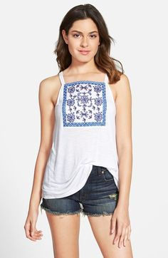 Frenchi®+Frenchi+Embroidered+Camisole+(Juniors)+available+at+#Nordstrom