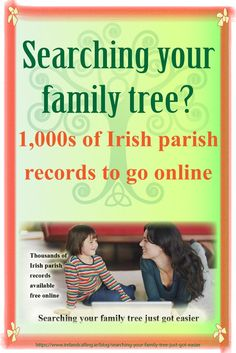 People searching their family tree will be pleased to hear that soon they will have free online access to more than 1,000 Irish parish records from the 1740s right up to the 1880s. The huge array of records will be available to anyone anywhere in the world thanks to the National Library of Ireland, who recently announced their plans to digitalise the records and publish them on the internet.