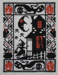 cross stitch and counted needlepoint patterns designs books and catalogs - Halloween Catalogs
