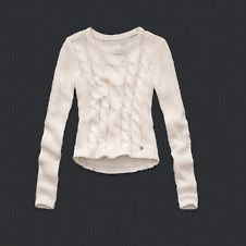 girls cropped cable knit sweater