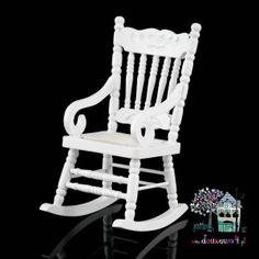 Fotel bujany biały