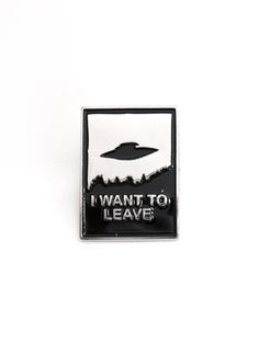I Want To Leave Enamel Pin Badge #disturbiaclothing disturbia iron stamped alien space goth occult grunge alternative