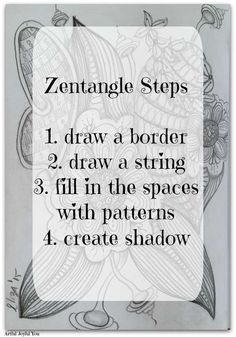 Here's a quick overview of the method -> http://www.artfuljoyfulyou.com/what-the-heck-is-a-zentangle/ #zentangle #zendoodle