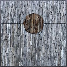 Work by Scottish artist Dugald MacInnes, entitled 'XENOLITH (MOHO)', made of Scottish slate and Venetian gold leaf smalti. Photo Gallery | Chicago Mosaic School