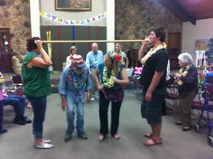 Doing the limbo! How low can you go?     Aspen Senior Center (Utah) http://aspenseniorcenter.com/
