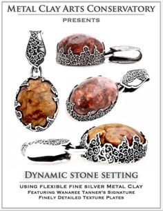 """MetalClay Arts Conservatory: NEW """"Dynamic Stone Setting"""" In Flexible Silver Metal Clay Instant Access Digital Class"""