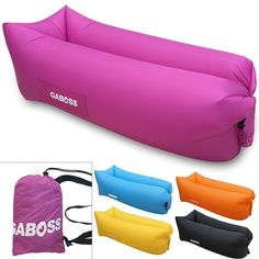 Inflatable Lounger Outdoor Sofa Inflatable Outdoor Furniture Air Sofa Bed Pink…