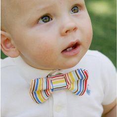 love the rainbow bow tie!
