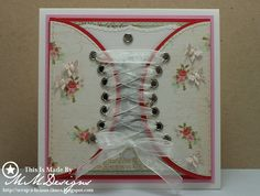 Shabby Chic Gatefold Corset Card Made By MM Designs...