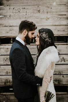 Moody winter wedding