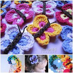 Pretty Crochet  Butterfly free pattern (video) #crafts #crochet #wonderfuldiy