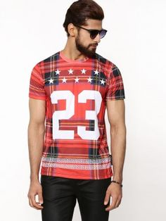 CRIMINAL DAMAGE Tartan T-Shirt from koovs.com Tartan, Concept, Mens Tops, T Shirt, Fashion, Supreme T Shirt, Moda, Tee, La Mode