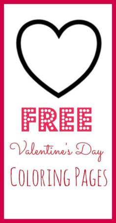FREE Valentine's Day Coloring Pages! #free #coloring #pages