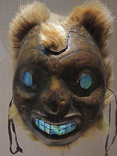 Sea Bear Mask, Haida - Copper work: 19th century British Columbia (in the Metropolitan Museum of Art, New York). Photo by rafael rybczynski, via Flickr.
