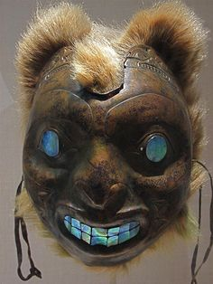 Sea Bear Mask, Haida - Copper work: 19th century British Columbia (in the Metropolitan Museum of Art, New York). Photo by rafael rybczynski, via Flickr.
