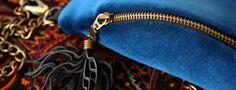 Boho Biscay - aksamitna nerka na zańcuchu