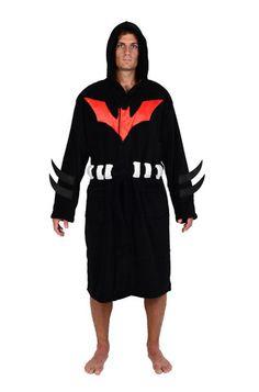 DC Comics Batman Beyond Hooded Fleece Robe
