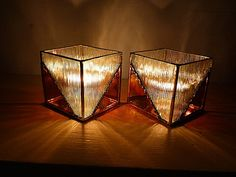 Elegant Stained Glass Candle Holders by miloglass on Etsy, $60.00