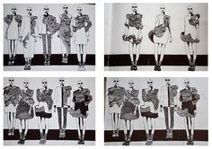Fashion Sketchbook - fashion illustrations; collection lineup; fashion design portfolio // student work, CSM