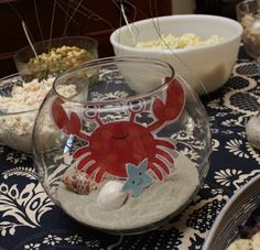 Henry had a fantastic birthday party! He enjoyed his first cupcake, without even making a huge mess. Boy First Birthday, Boy Birthday Parties, Birthday Ideas, Pirate Birthday, Crab Party, Lobster Party, Nautical Party, Deco Table, Party Ideas