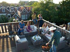 Niet alleen de tuin, ook een dakterras is een perfecte plek voor een Allibert loungeset! #garden #allibert