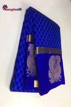 Color : MultySaree Fabric : Pure SilkBlouse Fabric : Pure SilkSaree Size : M. South Silk Sarees, Blue Silk Saree, Wedding Silk Saree, Cotton Saree, Bridal Sarees, Royal Blue Saree, Purple Saree, Desi Wedding, Cotton Silk