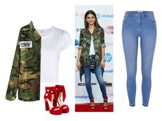 """""""Zendaya"""" by nuria-f ❤ liked on Polyvore featuring River Island, RE/DONE, WithChic and Jimmy Choo"""