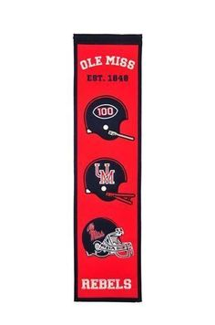 4a1666463c23 OLE MISS REBELS HERITAGE BANNER Ole Miss Rebels, Mississippi, University,  Banners, Colleges