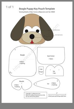 Pdf Sewing Patterns, Crochet Patterns, Black Puppy, Baby Applique, Key Pouch, Paw Patrol Party, Beagle Puppy, Easy Sewing Projects, Felt Crafts