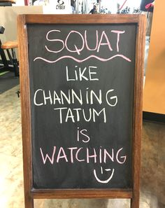 Sandra's Words of Wisdom for the Day! We <3 you Channing Tatum! #channinglove #channingtatum #magicmike #sexybeast #squat #legday #fitness #workout #WorldGym