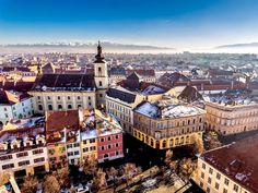 Scenic view over Sibiu, Romania's most important cultural center and one of the 8 most idyllic places to live in Europe | 10 Hidden Tourist Gems In Eastern Europe You Didn't Know About