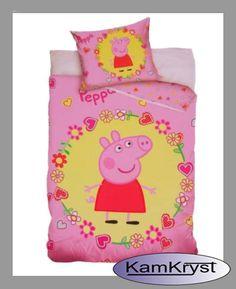 Peppa Pig Bedding with size 100x135 cm - shop KamKryst | Pościel ze Świnka Peppą w rozmiarze 100x135 cm w sklep Kamkryst #peppa #peppa_pig #peppa_pig_bedding