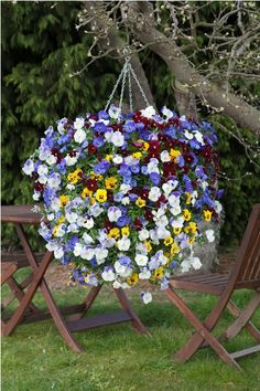 ball of cascading flowers