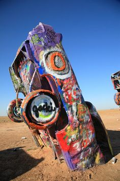 Cadillac Ranch, Route 66 - Amarillo, Texas by Frank Romeo: October 2012