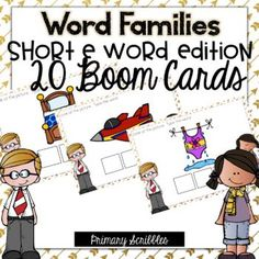Are you 1:1? Are you looking for a fun way to practice the skill of short e word families in your classroom? This online and interactive activity is perfect for the digital classroom. In this product, you get a link to a website. This activity contains 20 questions relating to the topic of short e word families. Please check out the preview above to view four of the deck cards.
