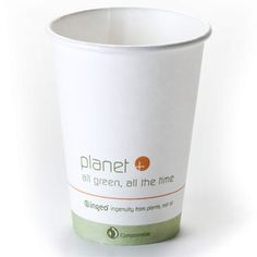 HOT Cup  8 oz. Compostable PLA Lined  $99 for box of 1,000