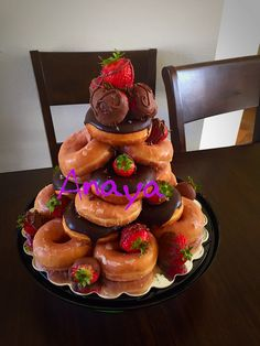 Donut Cake Tower By Ana