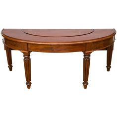 Fine Early 19th Century Regency Mahogany Hunt Table | From a unique collection of antique and modern demi-lune tables at https://www.1stdibs.com/furniture/tables/demi-lune-tables/