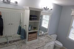 diy bathroom makeover, bathroom ideas, shelving ideas