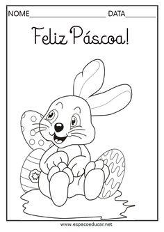 25 desenhos de Páscoa para colorir, pintar, imprimir! Riscos e moldes de Páscoa! - ESPAÇO EDUCAR