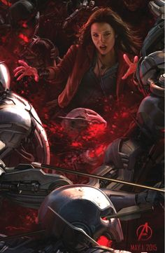 the avengers age of ultron scarlet witch comic con art