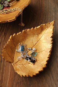 Cómo hacer un joyero decorativo con forma de hojas de otoño #diy #handmade #decoracion