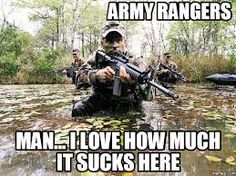 Top 10 Best US Army Memes out there: some funny, serious or sad. The updated collection ready for you to LOL at when you need some humor in your army life! Military Jokes, Army Humor, Military Life, Military Army, Military Slang, Ranger School, Airborne Ranger, Us Army Rangers, Rangers Team