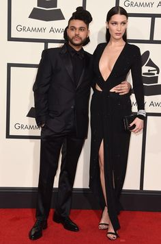 The Hottest Couples at the 2016 Grammy Awards | The Weeknd and Bella Hadid