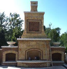stone and brick fireplace | Fireplaces - Natural Stone - Mansonry - Brick - Limestone