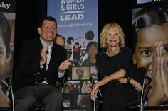 Nicholas Kristof and Meg Ryan at PBS Annual Meeting talking about Half the Sky: Turning Oppression into Opportunity for Women Worldwide
