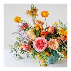 I LOVE the idea of having kumquats in a bouquet!