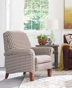 Rolled arms and a curved back make the La-Z-Boy Fletcher recliner a cozy, comfortable spot to relax. Plus, PIN TO WIN an ottoman! Get contest details at http://houseandhome.com/la-z-boy | #LaZBoy #Furniture #Chair #LivingRoom