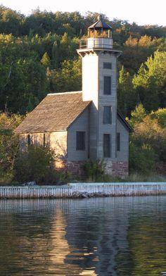 Lighthouse in Munising, MI Saint Mathieu, Michigan Travel, Michigan Usa, Lighthouse Pictures, Lighthouse Keeper, Grand Island, Beacon Of Light, Light Of The World, Water Tower
