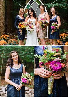 blue and gold bridesmaids #bridesmaids @weddingchicks